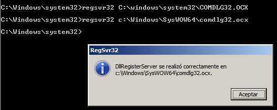 Solución a Component COMDLG32.OCX Windows 7 32 y 64 Bits Cómo se hace Sistema Operativo